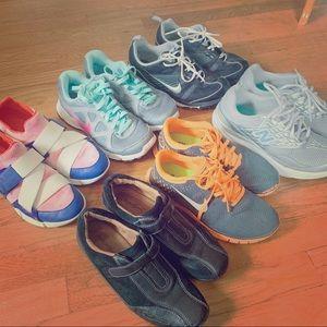 Bundle 6 woman sneakers size 6/6.5 Nike, C Klein